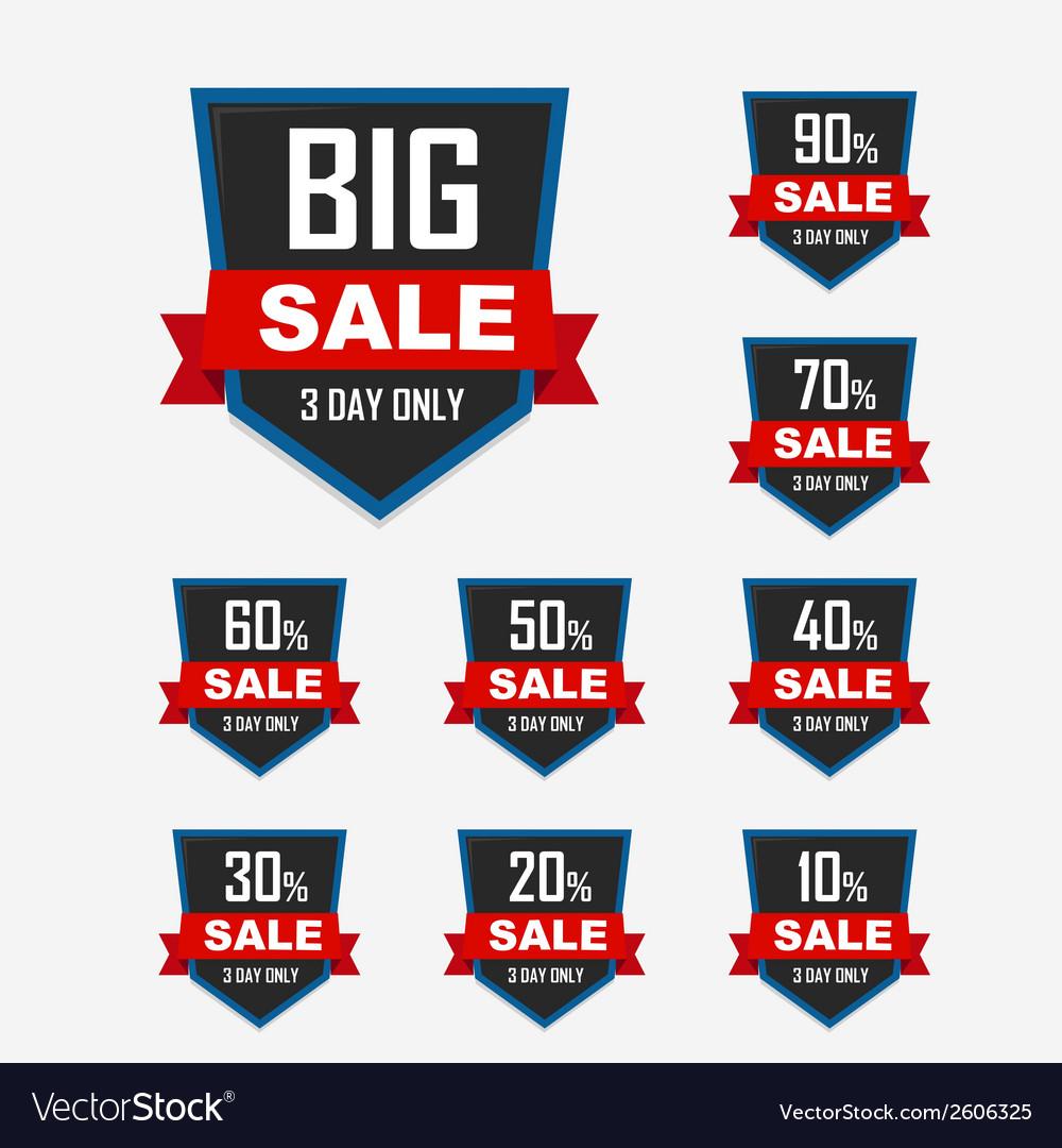 Big sale best offer badge sticker label or tag vector | Price: 1 Credit (USD $1)