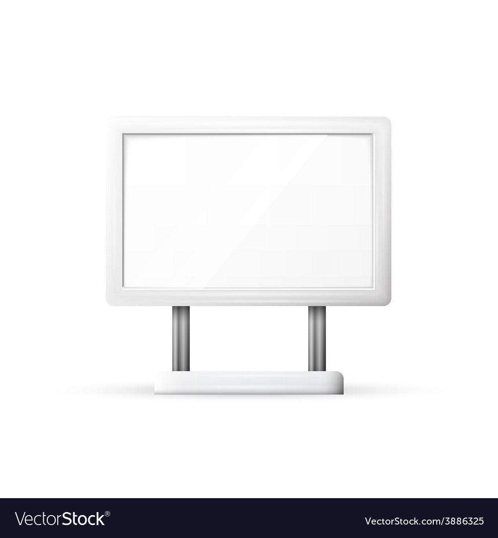 Blank outdoor billboard with place for message vector | Price: 1 Credit (USD $1)