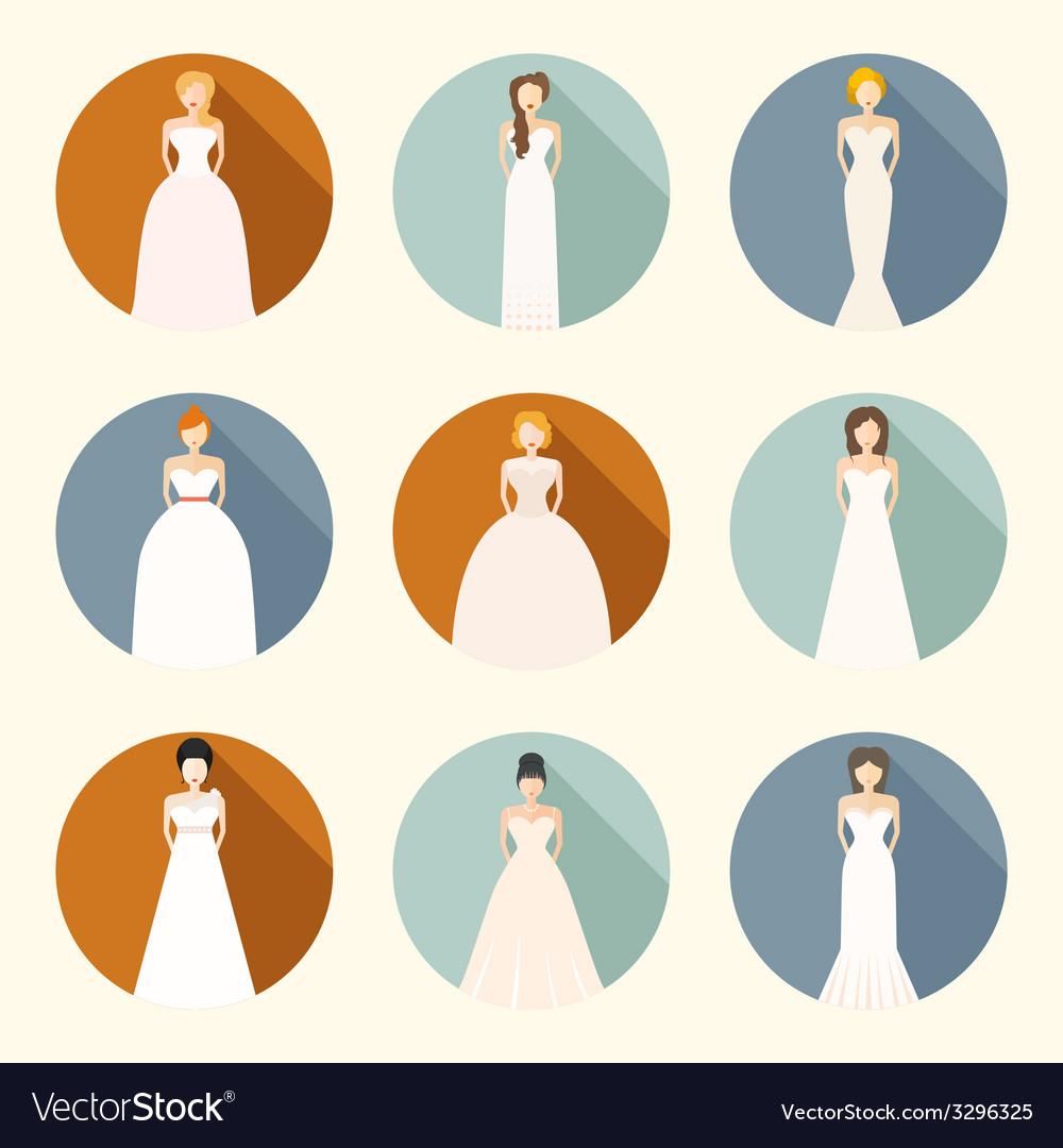 Brids in wedding dresses vector   Price: 1 Credit (USD $1)