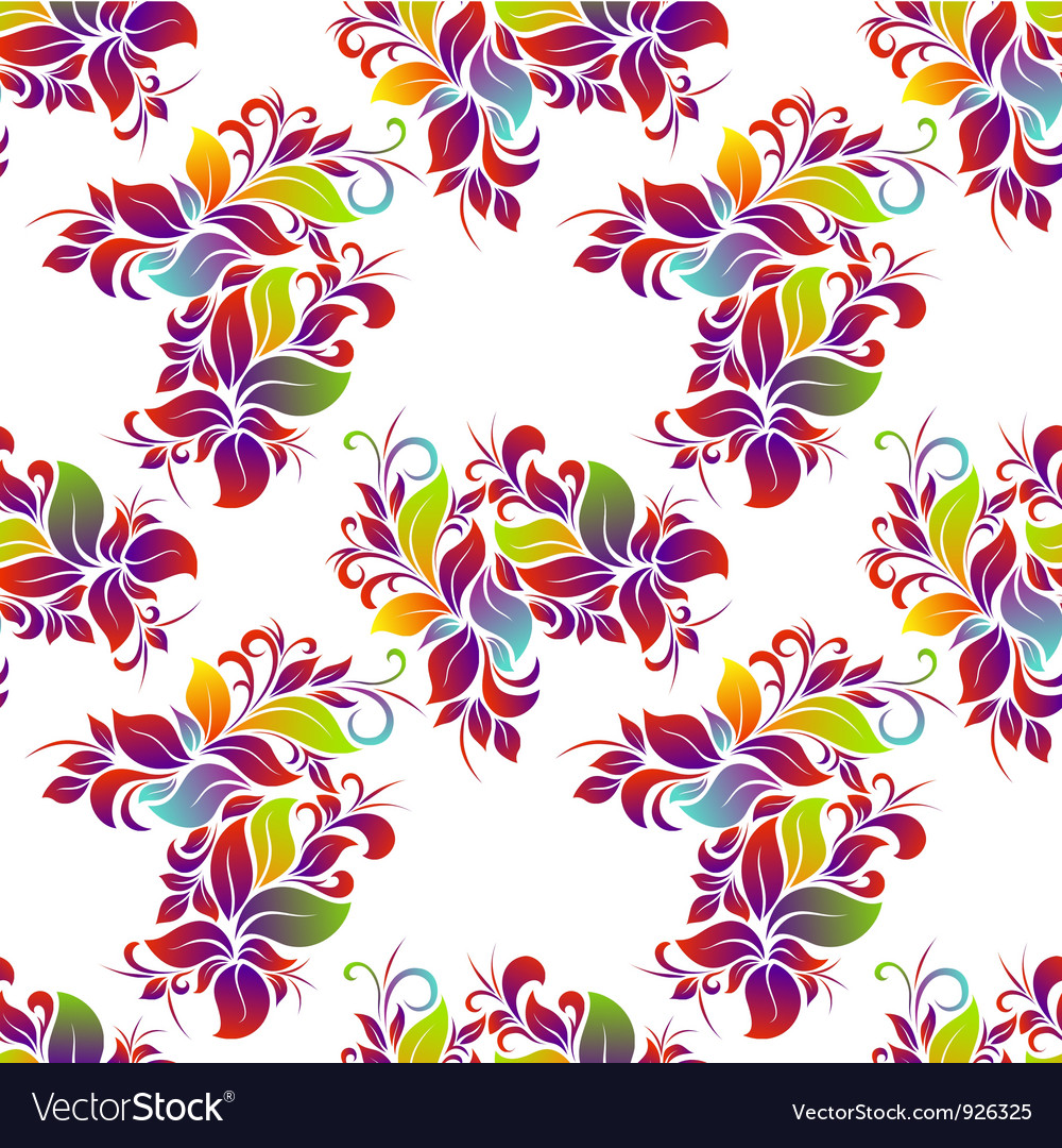 Bright floral seamless vector | Price: 1 Credit (USD $1)