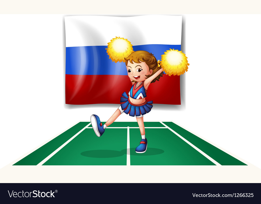 The cheerleader and the russian flag vector | Price: 1 Credit (USD $1)