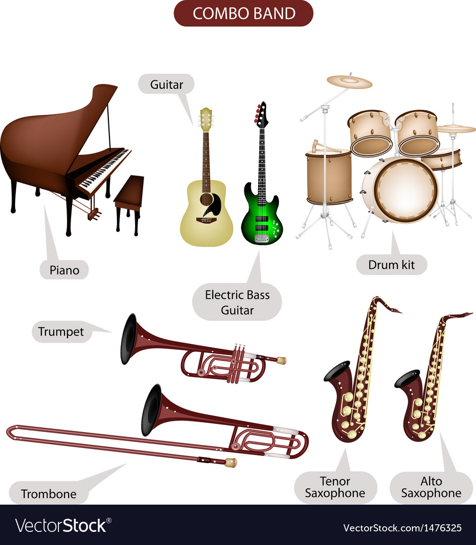 Combo brand music equipment vector | Price: 1 Credit (USD $1)