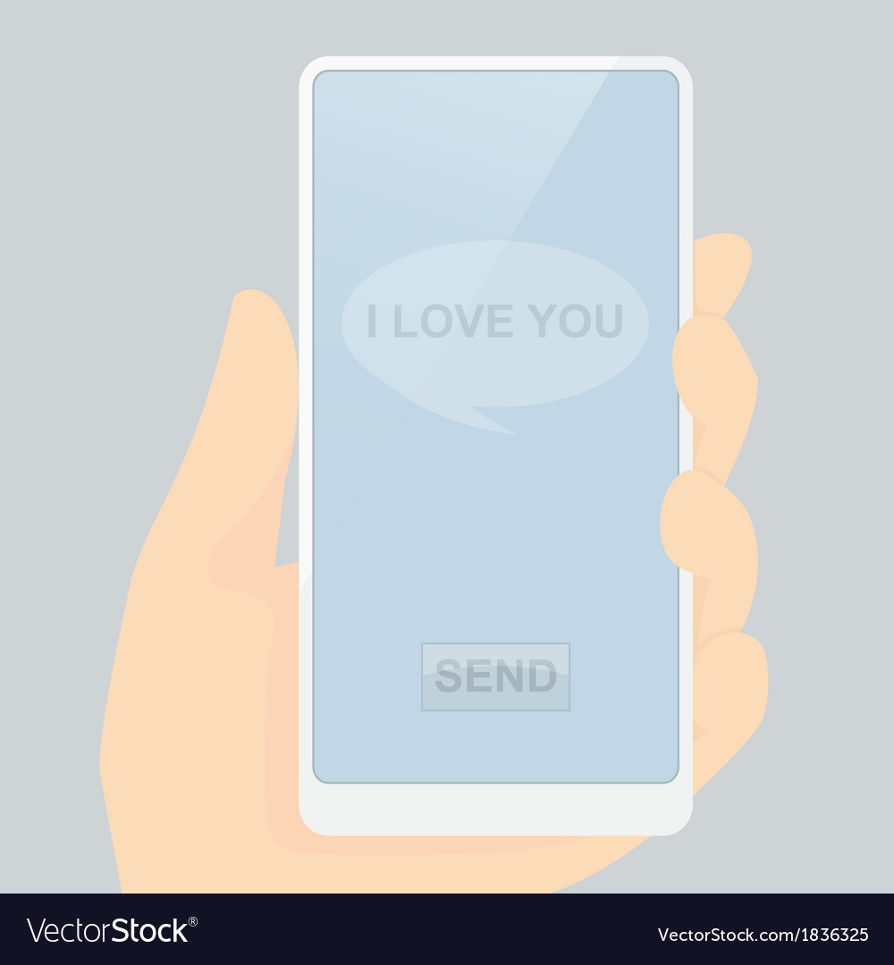 I love you message ready for send vector   Price: 1 Credit (USD $1)
