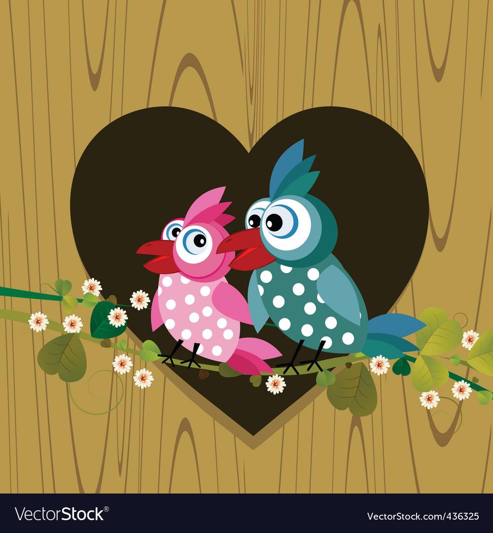 Love birds vector | Price: 3 Credit (USD $3)