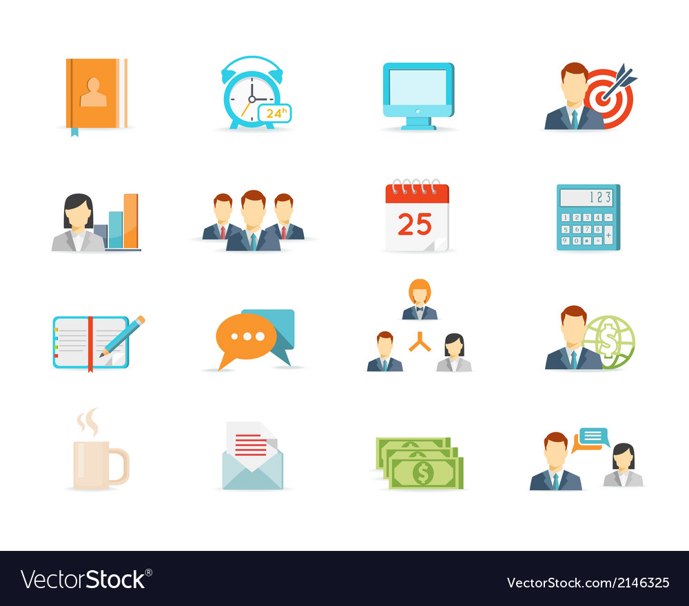 Office work and management icons vector | Price: 1 Credit (USD $1)