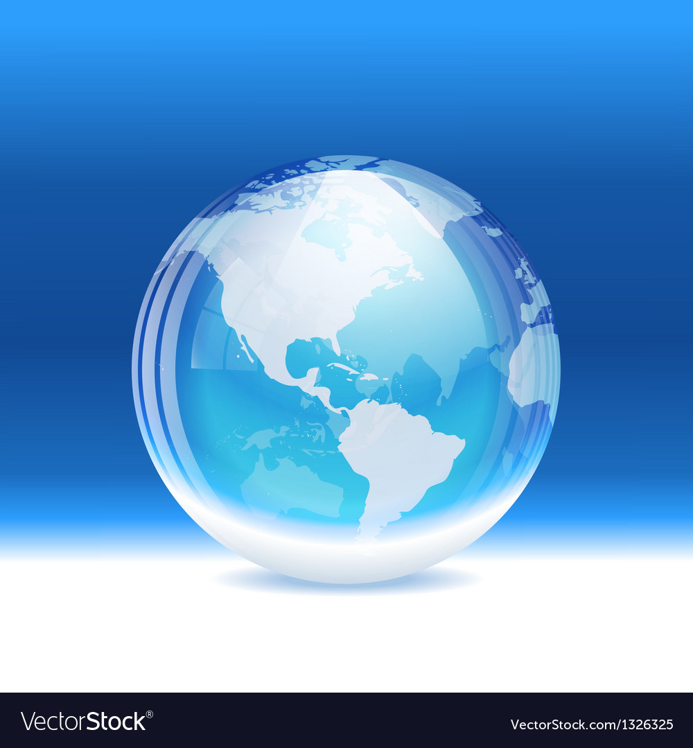 Transparent snow globe with map vector | Price: 1 Credit (USD $1)