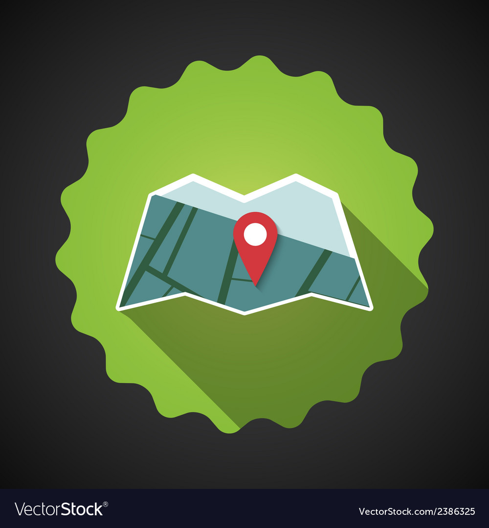 Travel map flat icon vector | Price: 1 Credit (USD $1)