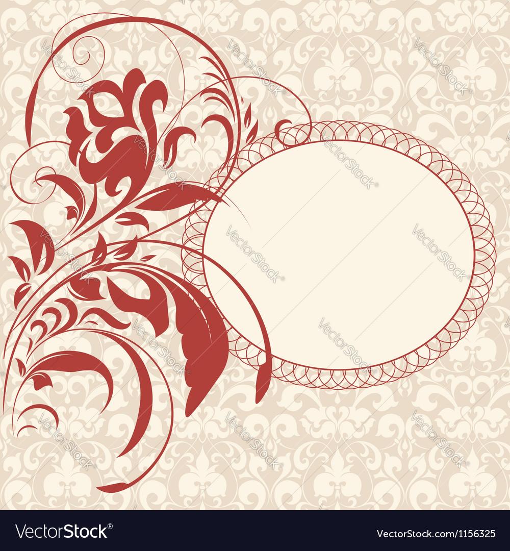 Vintage invitation floral card vector | Price: 1 Credit (USD $1)