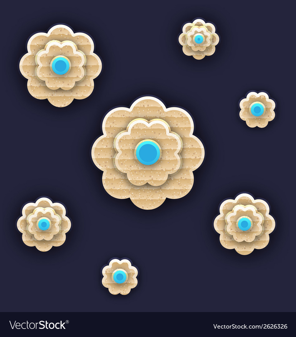 Abstract paper flowers handmade composition vector   Price: 1 Credit (USD $1)