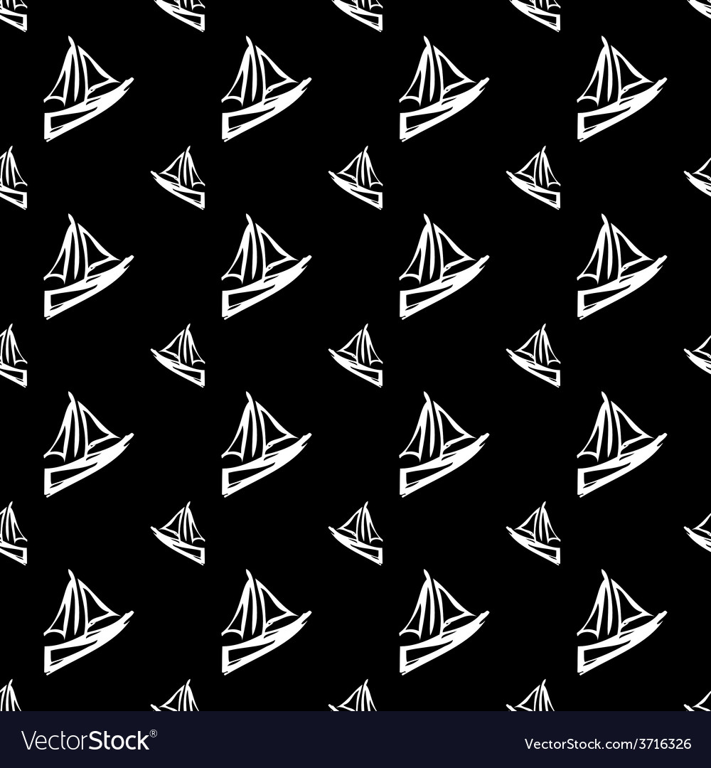 Black seamless pattern vector | Price: 1 Credit (USD $1)