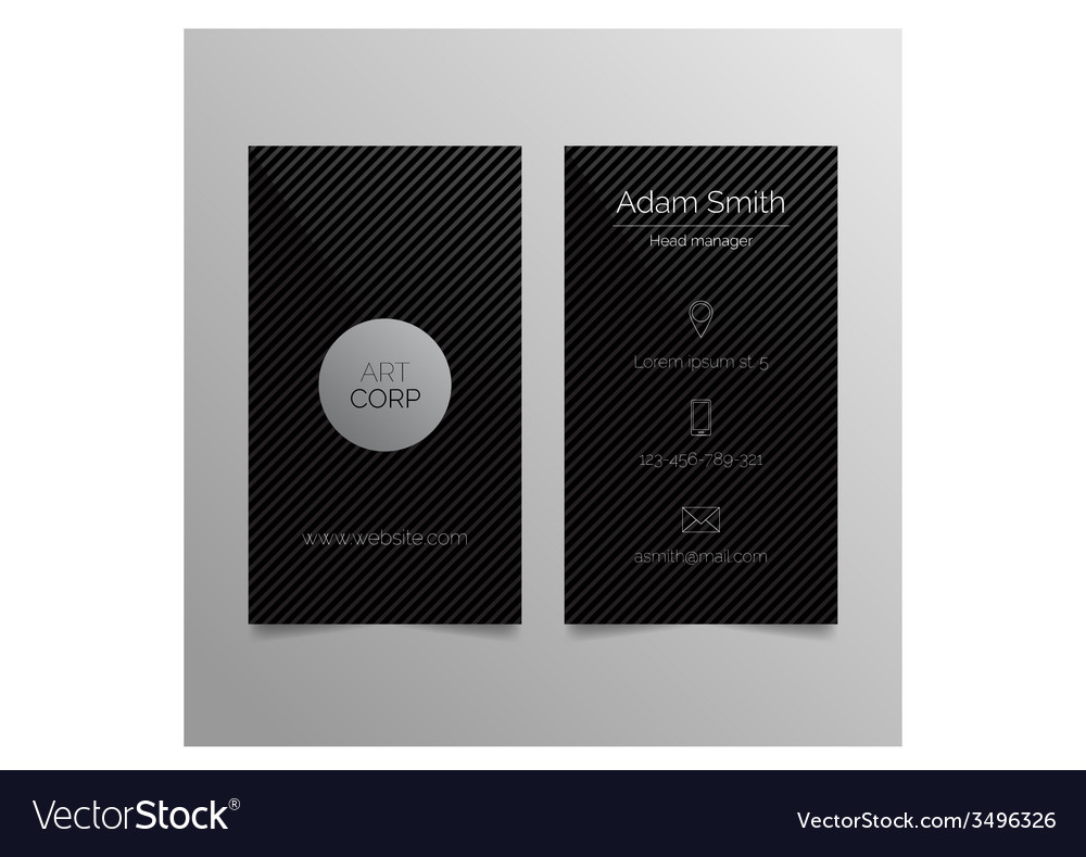 Business card template - dark sleek design vector | Price: 1 Credit (USD $1)