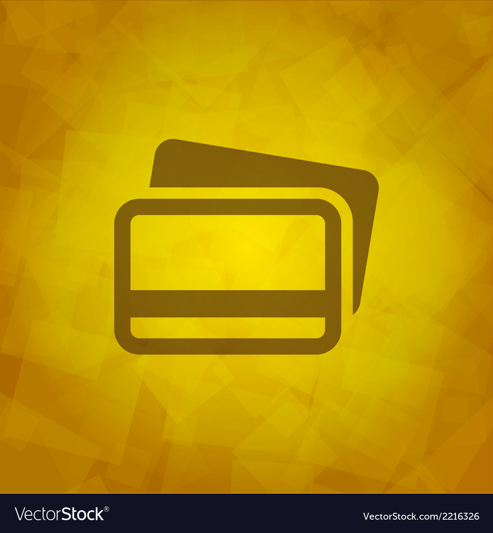 Credit cards icon design element vector | Price: 1 Credit (USD $1)