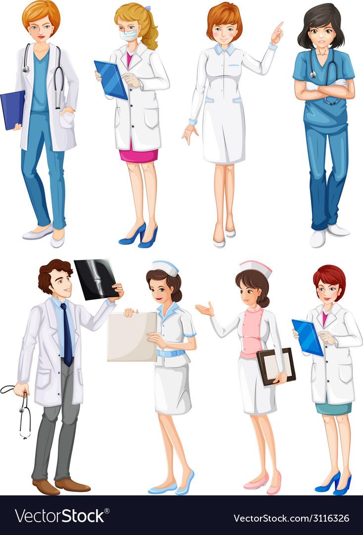 Doctors and nurses vector | Price: 1 Credit (USD $1)