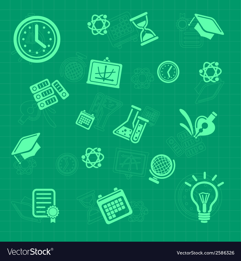 Education background green pattern vector | Price: 1 Credit (USD $1)