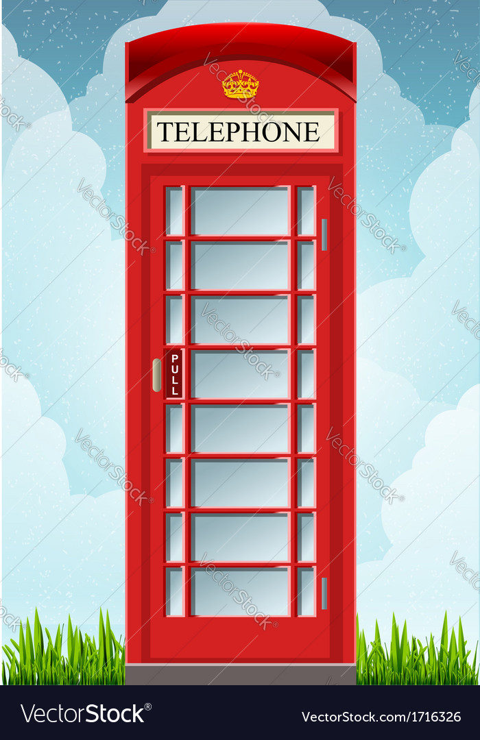 English red telephone cabin vector | Price: 1 Credit (USD $1)