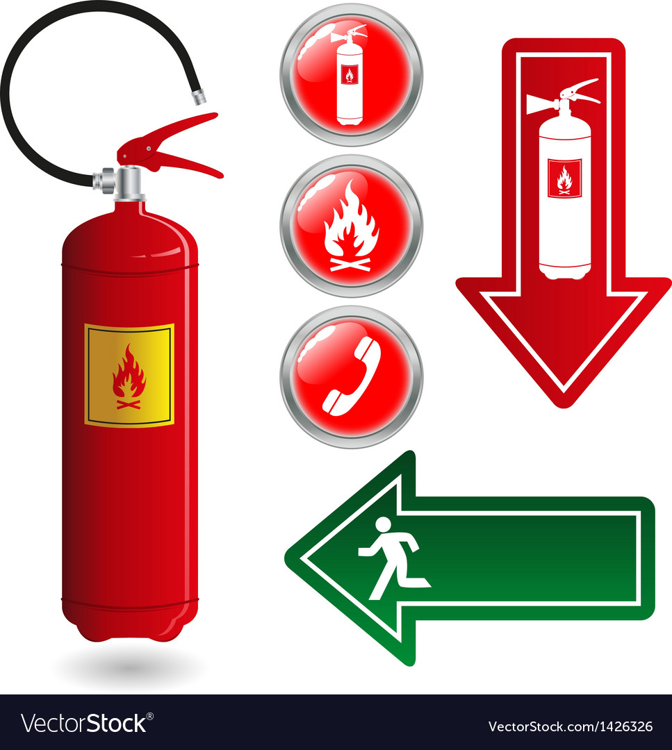 Fire safety vector | Price: 1 Credit (USD $1)