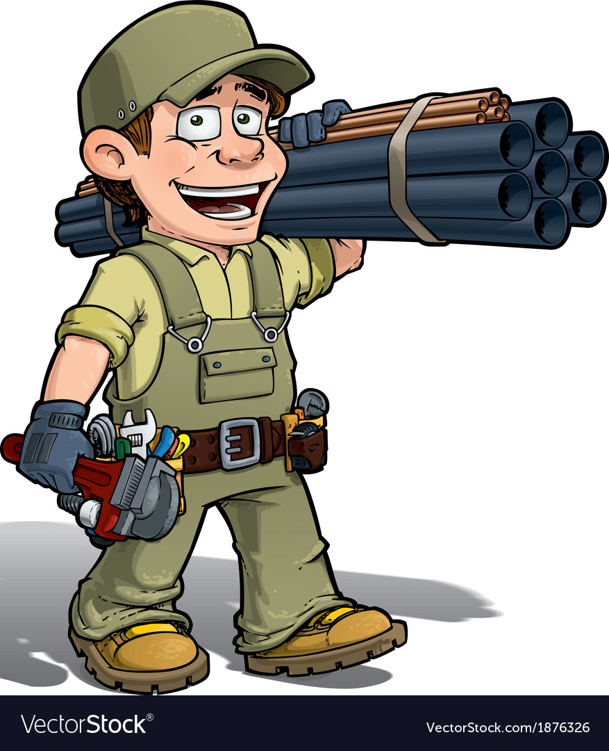 Handyman plumber khaki vector   Price: 3 Credit (USD $3)
