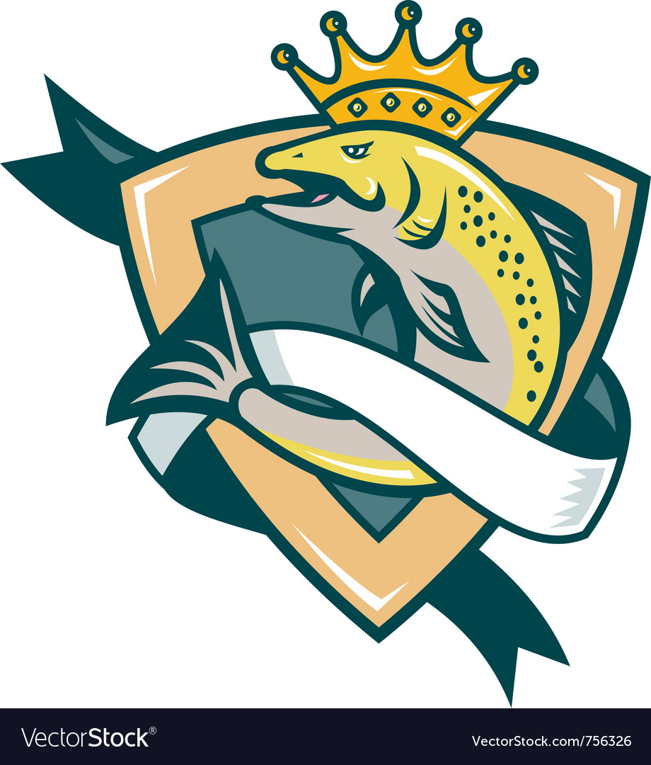King salmon vector | Price: 1 Credit (USD $1)