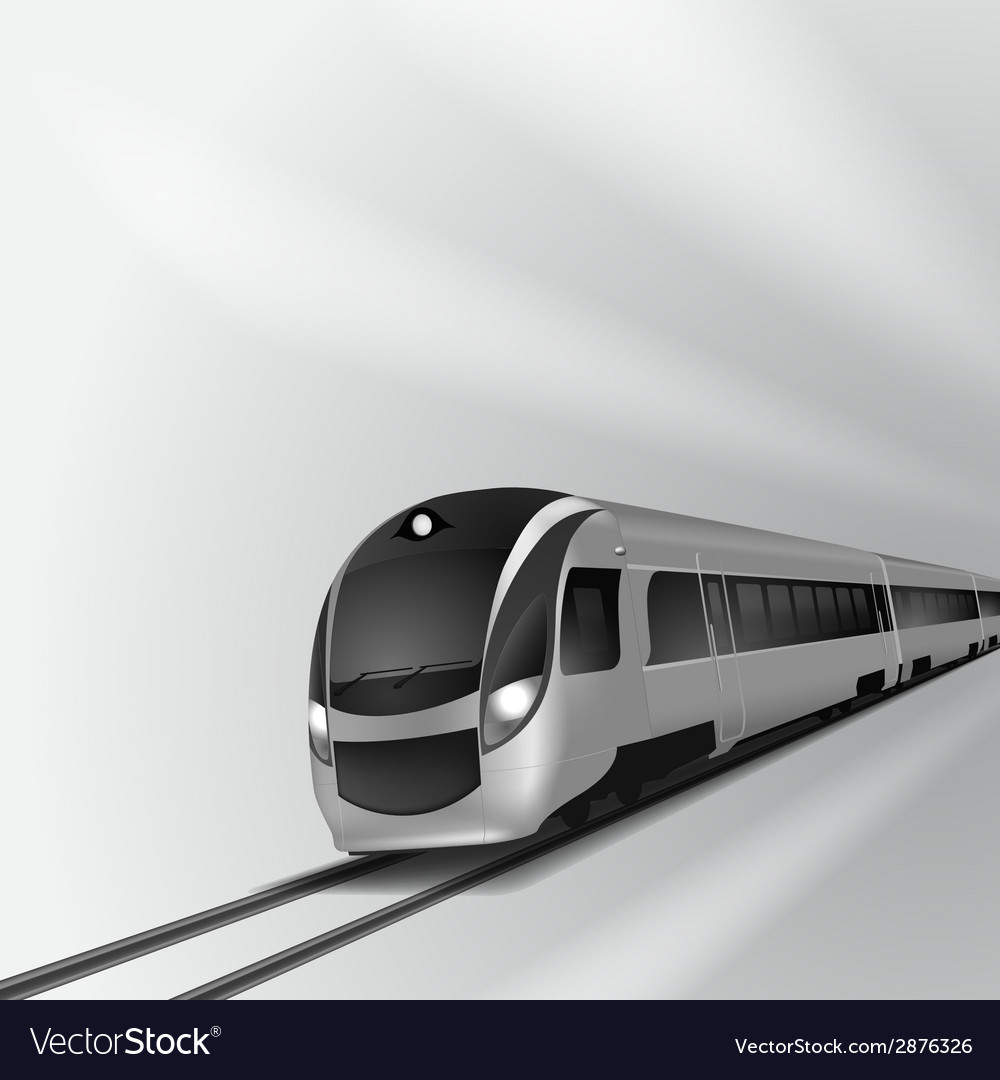 Modern high speed train 1 vector | Price: 1 Credit (USD $1)