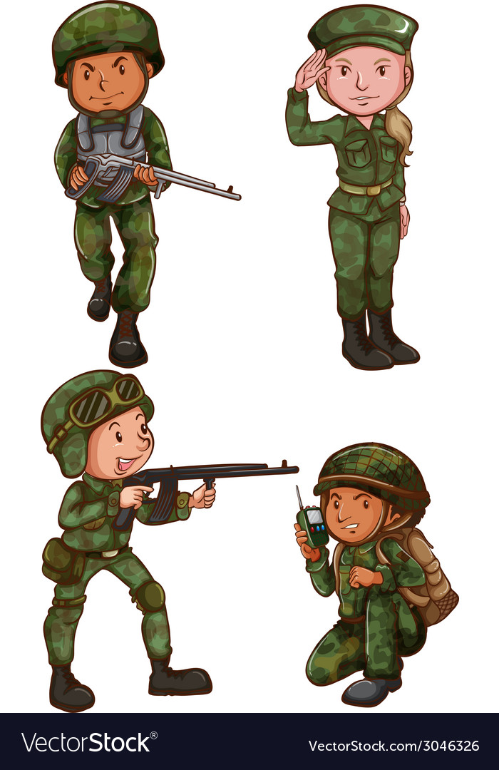 Simple sketches of a soldier vector | Price: 1 Credit (USD $1)
