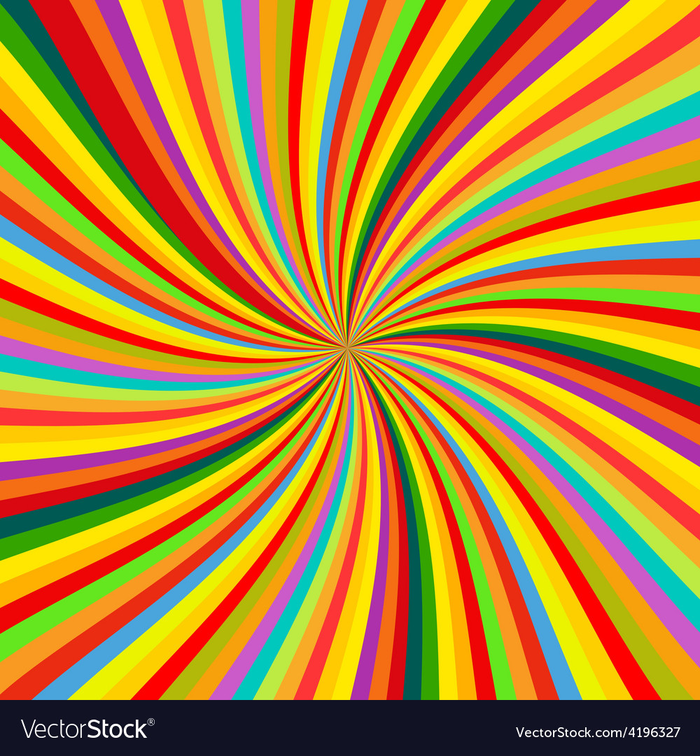 Abstract colorful retro rotation background vector | Price: 1 Credit (USD $1)