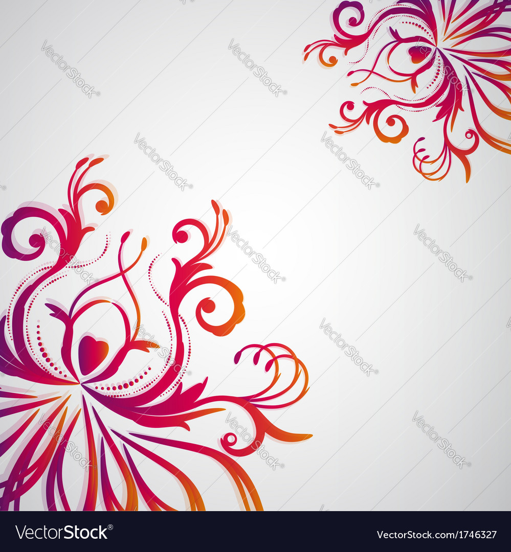 Abstract floral background with oriental flowers vector | Price: 1 Credit (USD $1)