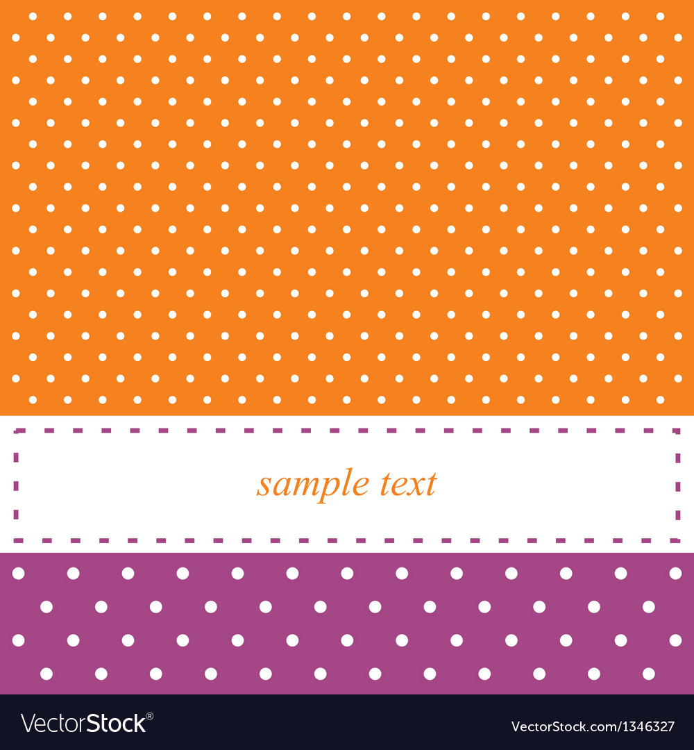 Birthday card or party invitation with white dots vector | Price: 1 Credit (USD $1)