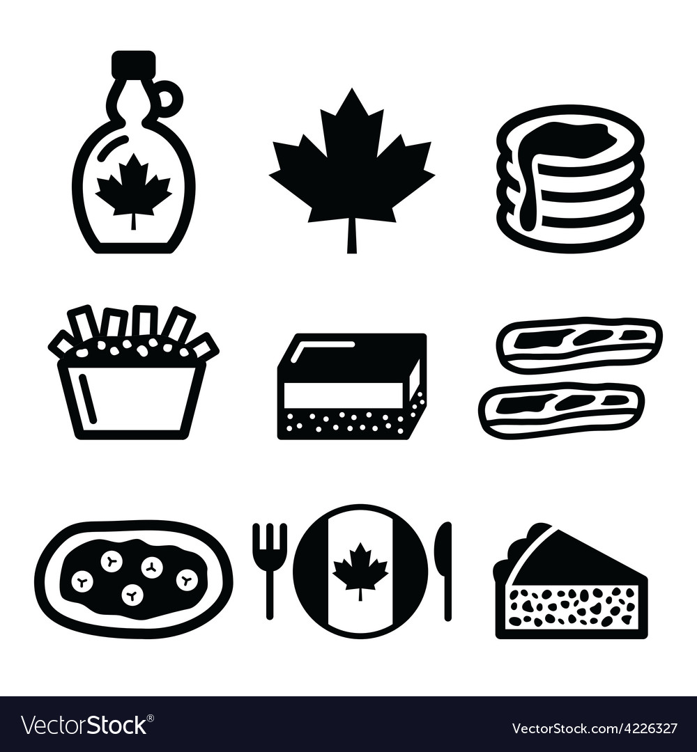Canadian food icons - maple syrup poutine vector | Price: 1 Credit (USD $1)