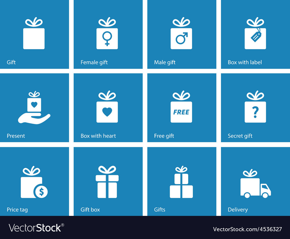 Collection of present boxes on blue background vector | Price: 1 Credit (USD $1)