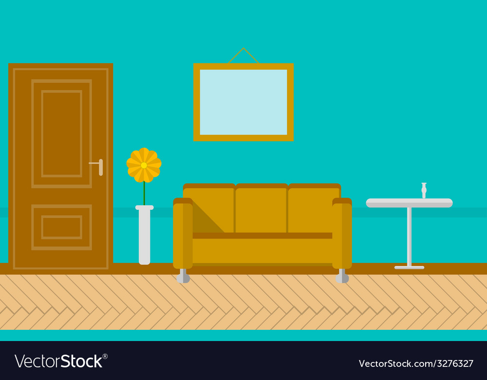 Flat for sitting-room vector | Price: 1 Credit (USD $1)
