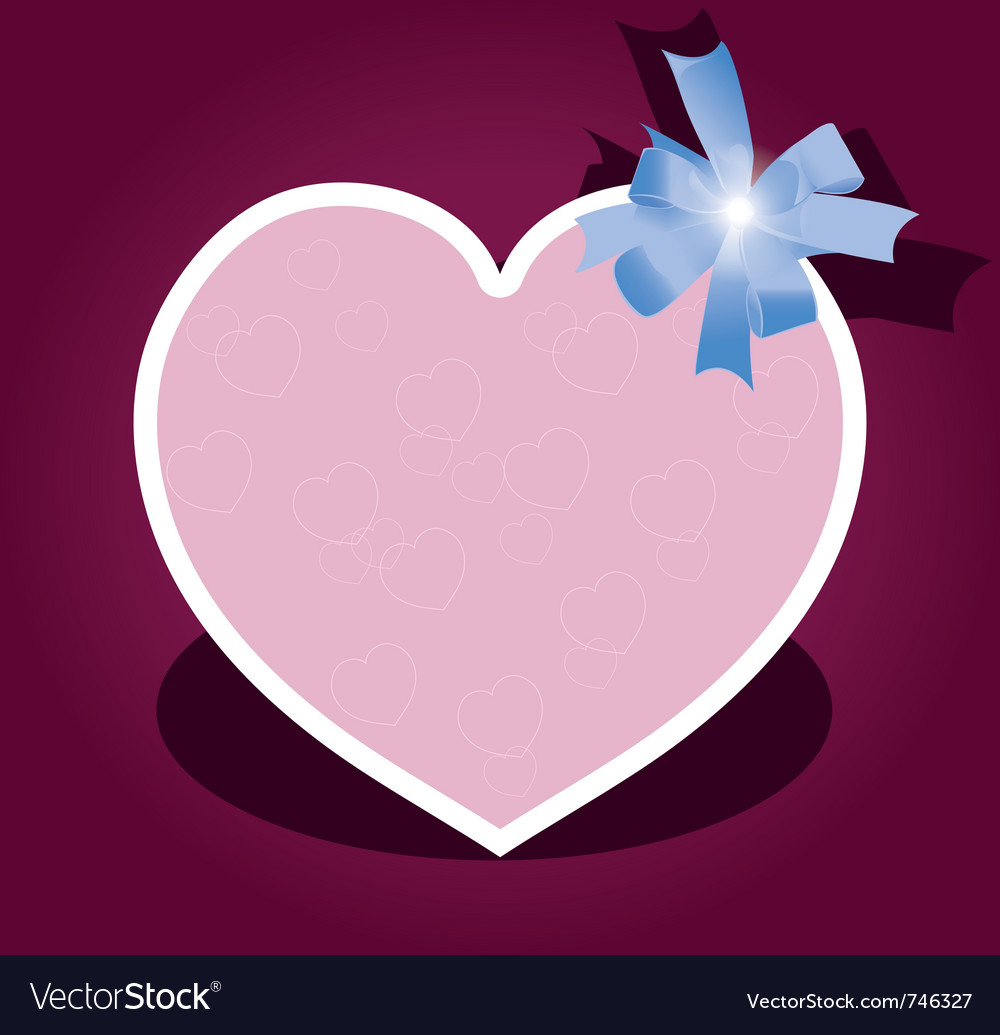 Greeting card with bow for valentine day vector | Price: 1 Credit (USD $1)