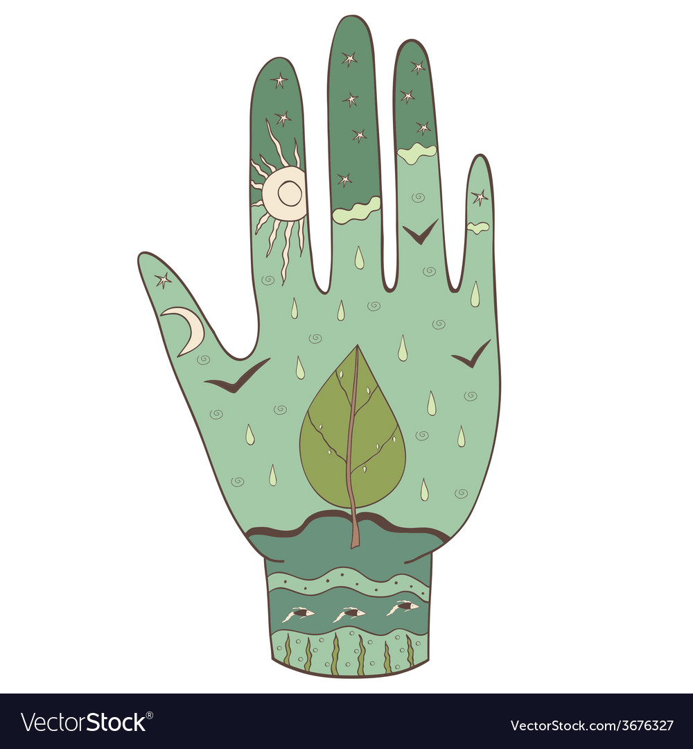 Hand ecology vector | Price: 1 Credit (USD $1)