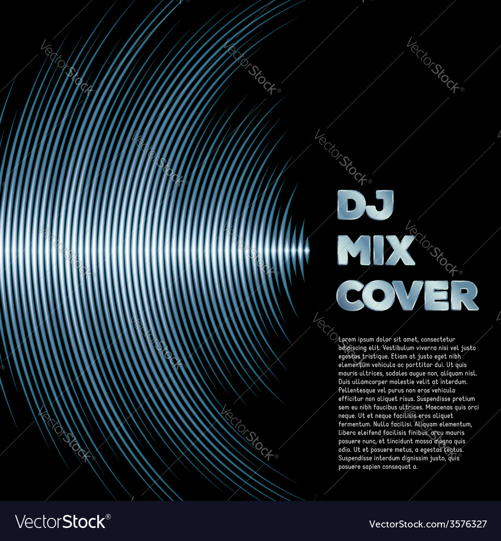 Music cover with waveform as a vinyl grooves vector | Price: 1 Credit (USD $1)