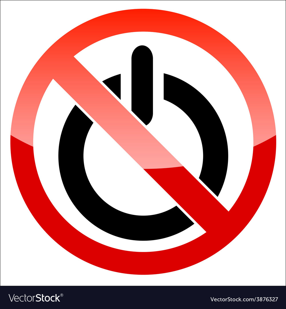 Prohibition signal power vector | Price: 1 Credit (USD $1)