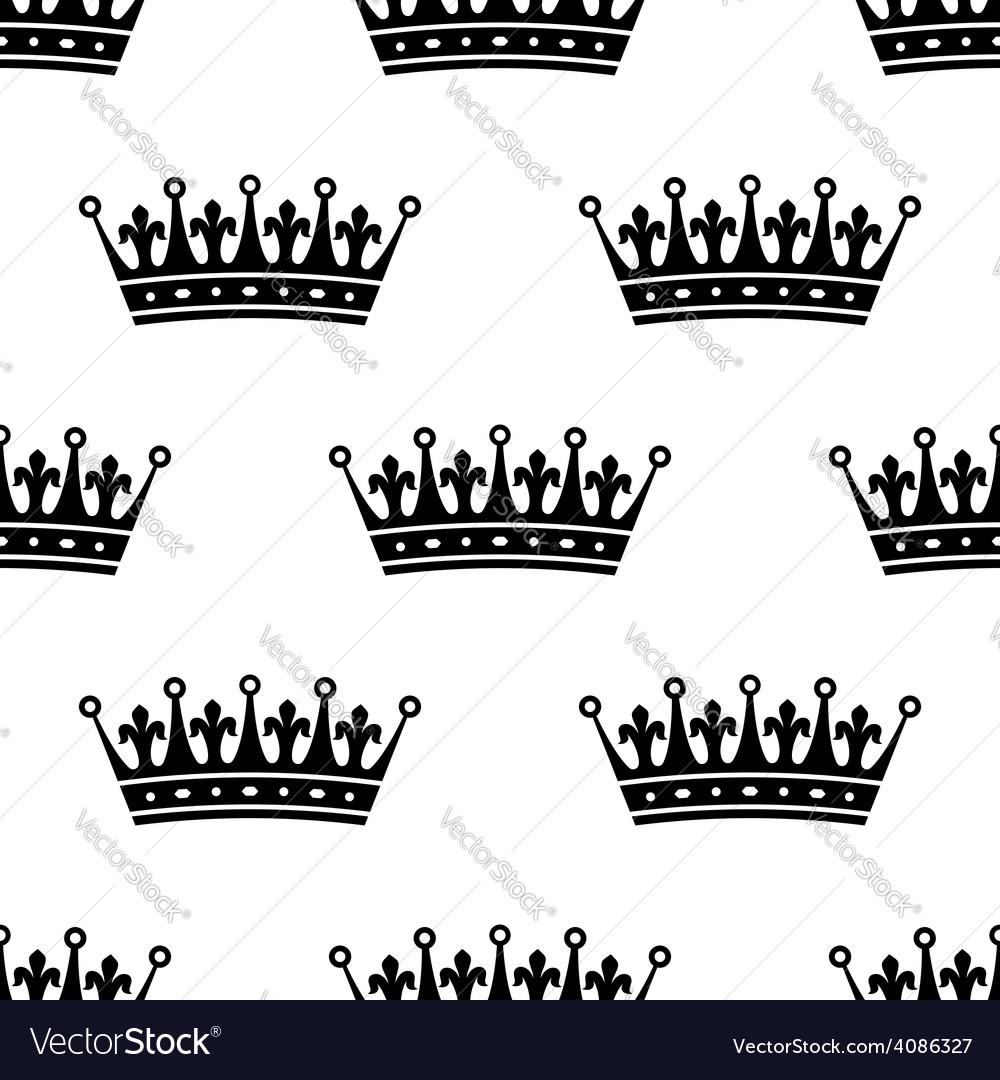 Royal heraldic seamless pattern vector | Price: 1 Credit (USD $1)