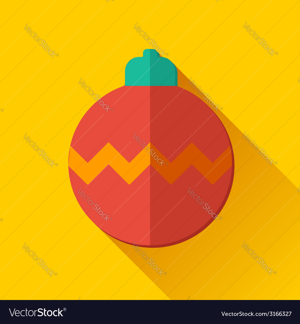Simple christmas ball icon in flat style vector | Price: 1 Credit (USD $1)