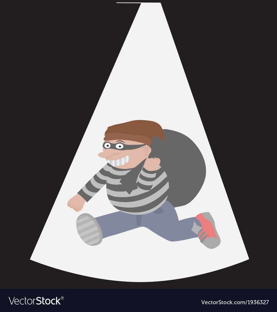 Thief cartoon vector | Price: 1 Credit (USD $1)