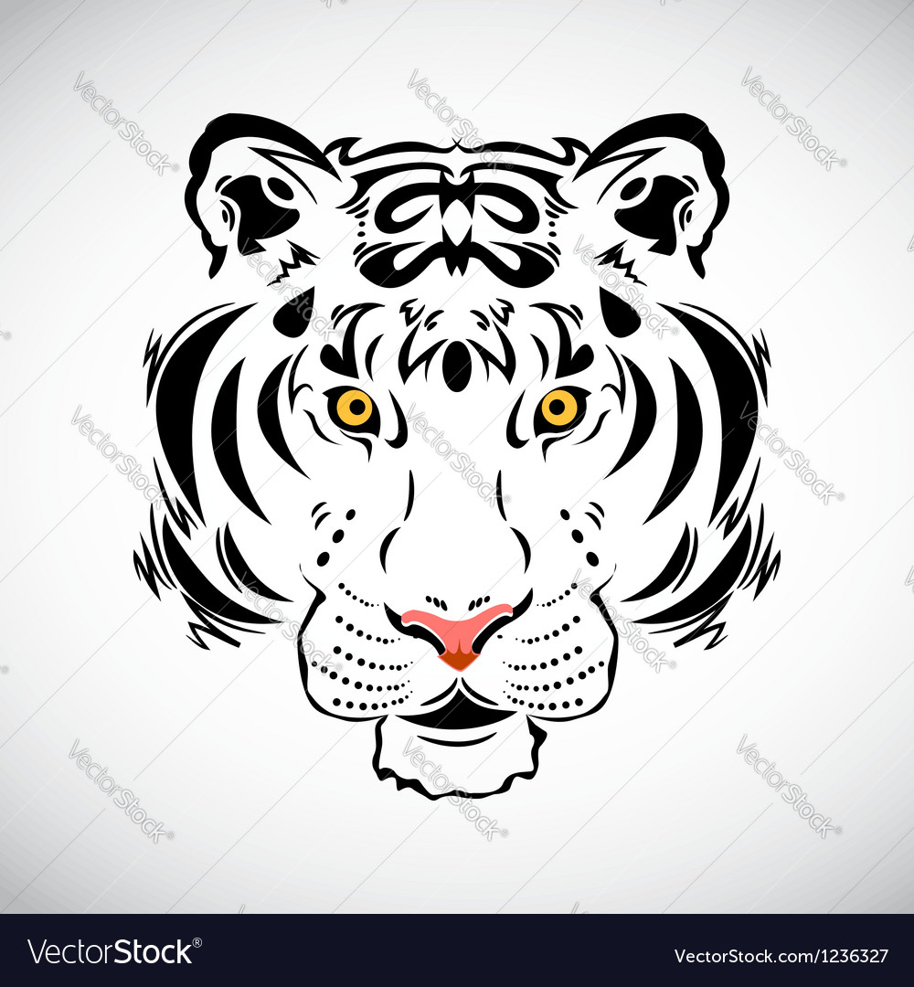 Tiger tattoo stylish ornate vector | Price: 3 Credit (USD $3)