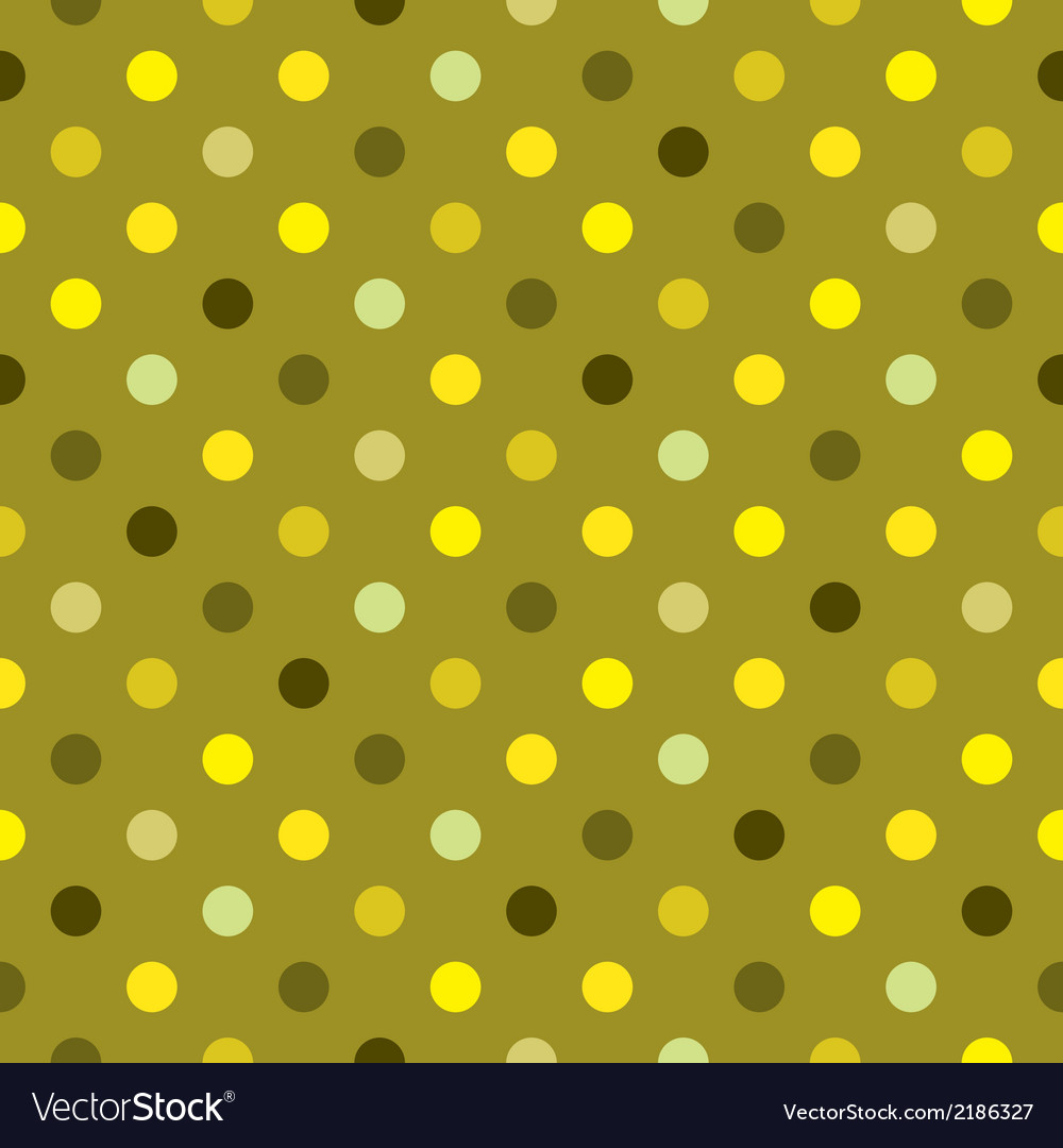 Tile green polka dots wallpaper background vector | Price: 1 Credit (USD $1)