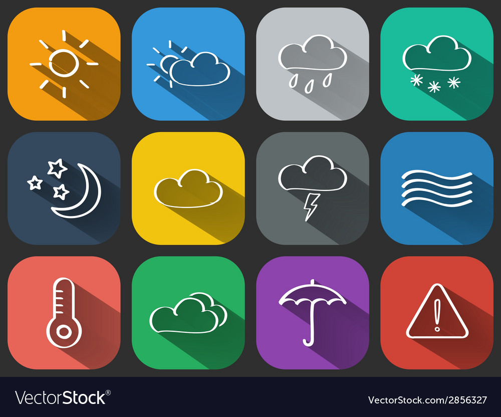 Weather icons set vector   Price: 1 Credit (USD $1)