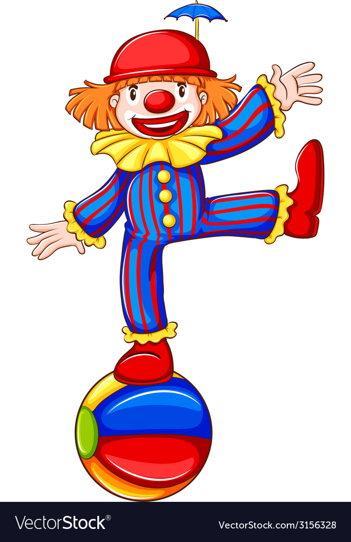 A coloured sketch of a happy clown vector | Price: 1 Credit (USD $1)