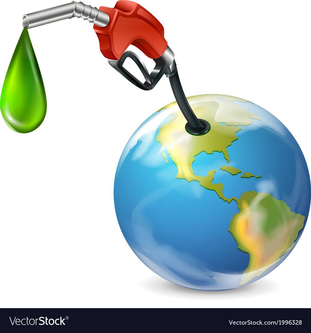 A petrol pump and a globe vector   Price: 1 Credit (USD $1)