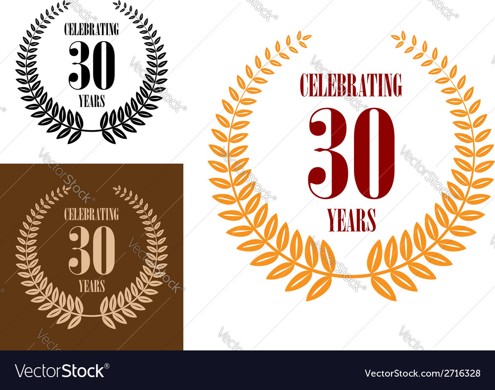 Anniversary jubilee celebration icons vector | Price: 1 Credit (USD $1)