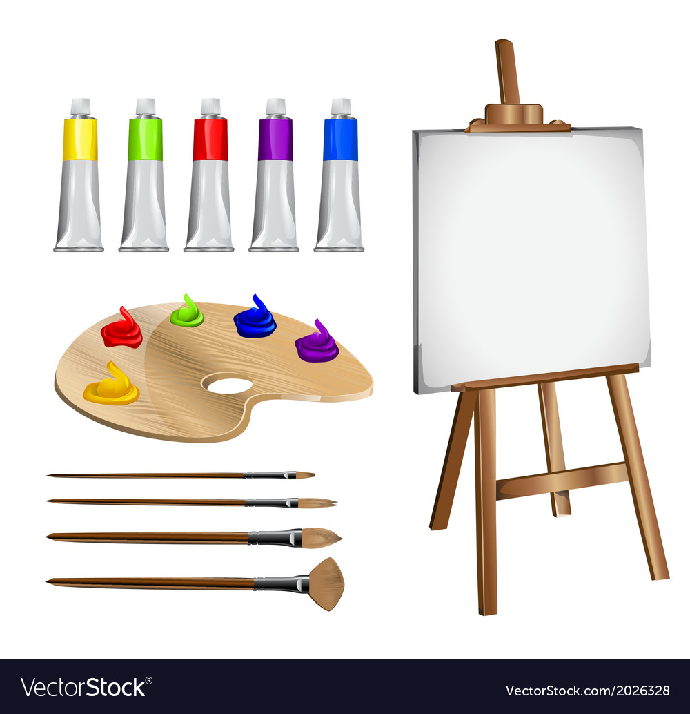 Artist paints vector | Price: 1 Credit (USD $1)