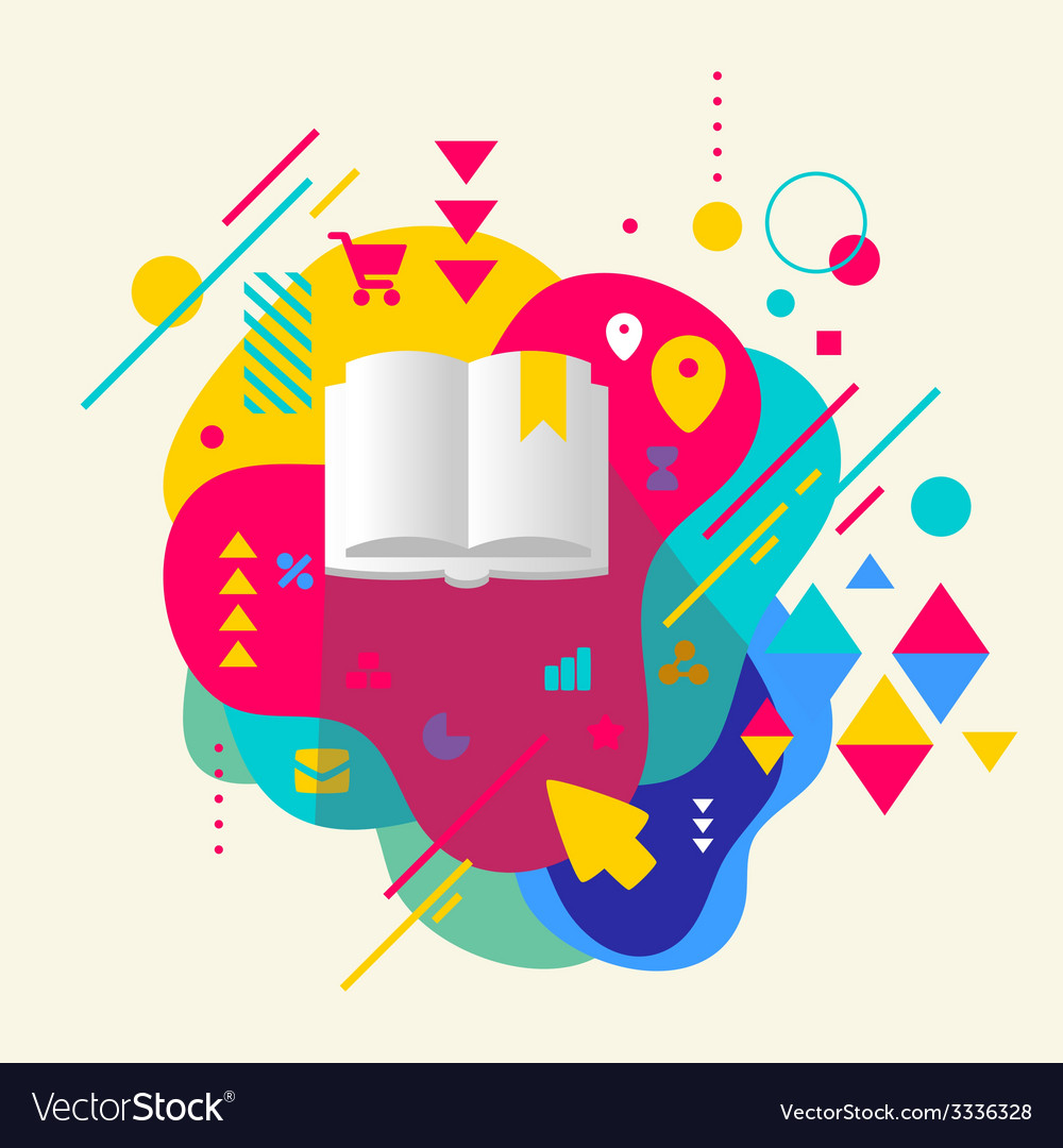 Book on abstract colorful spotted background with vector   Price: 3 Credit (USD $3)