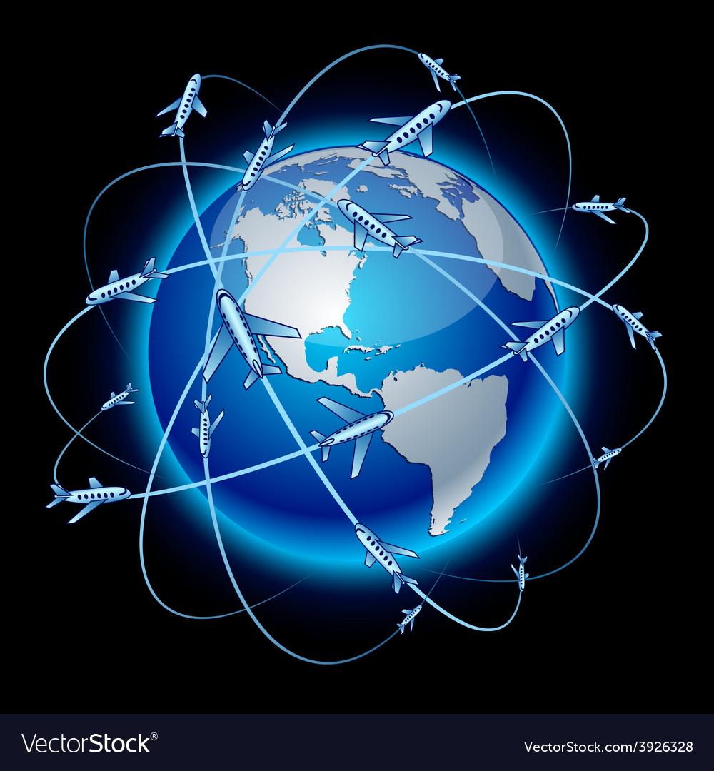 Communication earth - america vector | Price: 1 Credit (USD $1)