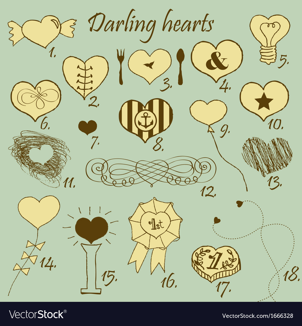 Darling hearts vector | Price: 1 Credit (USD $1)