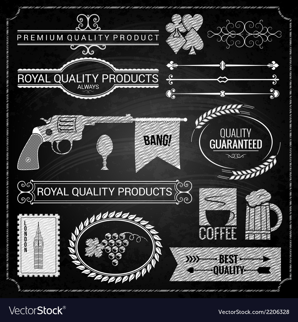 Design elements chalk texture vector | Price: 1 Credit (USD $1)