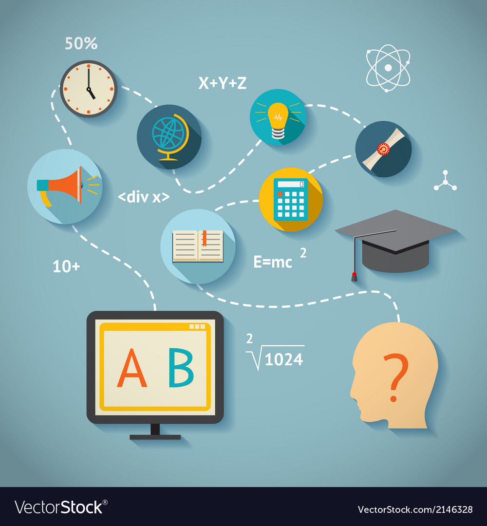 Internet education infographics vector | Price: 1 Credit (USD $1)