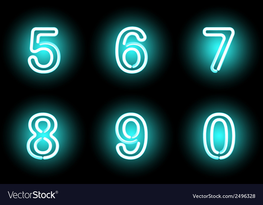 Neon digits vector   Price: 1 Credit (USD $1)